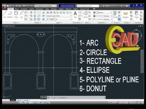 Learning AutoCAD 2013 Tutorial 6: Basic Commands.