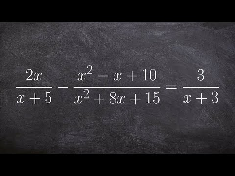 Solving a rational expression by multiplying by the LCM