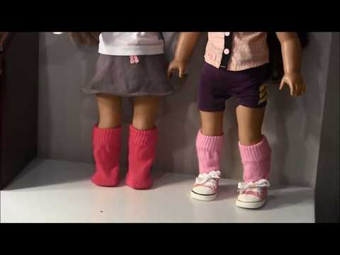 How to Make Socks for American Girl Doll (Dollar Store Craft)