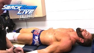 Zack Ryder is examined in the trainer