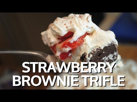 STRAWBERRY BROWNIE TRIFLE - Student Recipe