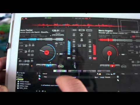 Virtual DJ auf Samsung Galaxy Tab 2 10.1