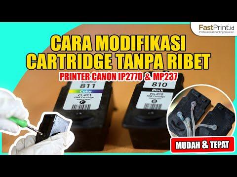 PART 1: Cara Modif Cartridge CL-811/PG-810 Canon IP2770, MP237 Dengan Obeng Bor Cartridge Fast Print