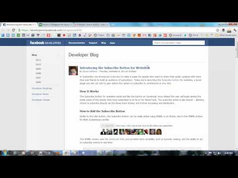 How To Add Facebook Subscribe Button To Your Website