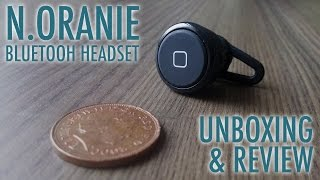 Is this the worlds smallest bluetooth headset? The N.ORANIE Mini Bluetooth Earphone Headset Review