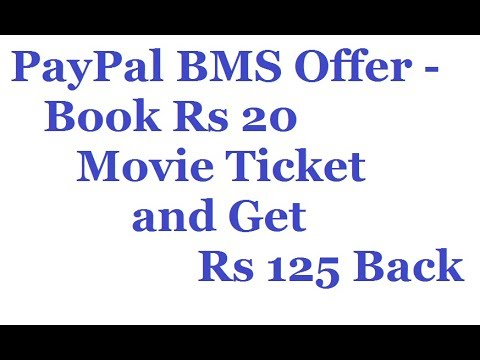 How to Pay Using Paypal in BookMyShow to get Rs 125 For Free