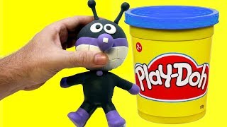 BAIKIMAN stop motion animation made with Play doh clay - Anpanman character
