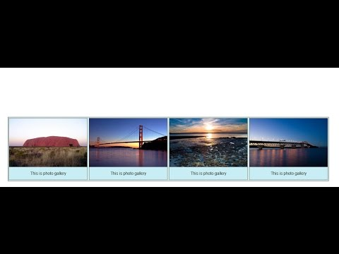 HTML - How to create Gallery with CSS in Notepad