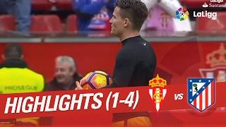 Resumen de Sporting de Gijón vs Atlético de Madrid (1-4)