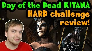 Day of the Dead Kitana Challenge (MKX Mobile) HARD difficulty review.