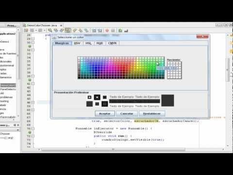 Tutorial de Programacion Java - 49 - JColorChooser