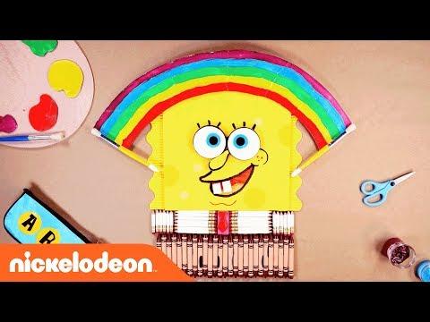 School Supplies📝 Stop Motion w/ SpongeBob, TMNT, & More! | Nick