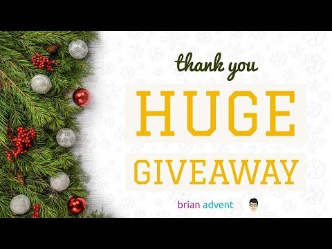 Huge iOS Holiday Giveaway | Brian Advent