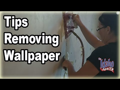 How to remove wallpaper.  Tips removing wallpaper with a steamer.