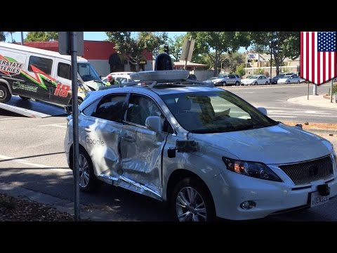 Self-driving car crash: Google Lexus collides with car in California - TomoNews
