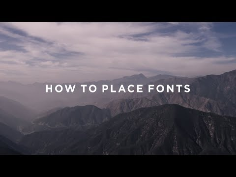 Cinematic Fonts - How To Place Them On A Film