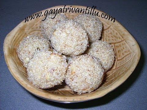 Rawa (Sujji) Laddoo - Andhra Recipes Telugu Vantalu Indian Cooking