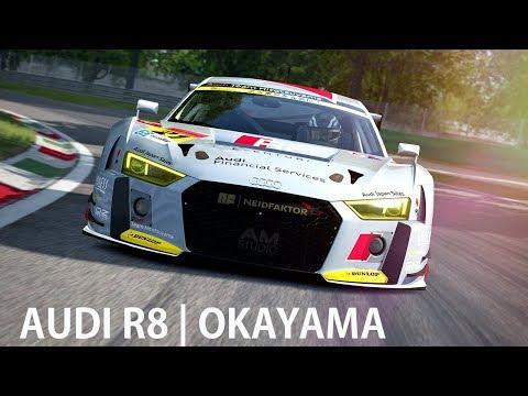 AUDI R8 RACE AT OKAYAMA CIRCUIT   ASSETTO CORSA