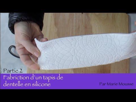 Fabrication un tapis de dentelle en silicone pour savon - partie 2