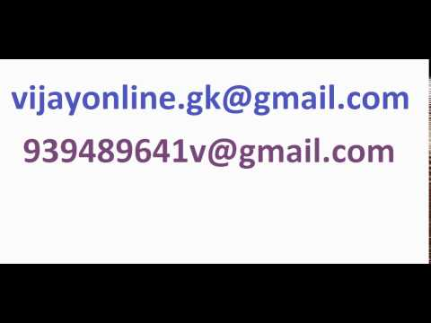My new mail IDs to contact me: vijayonline.gk@gmail.com