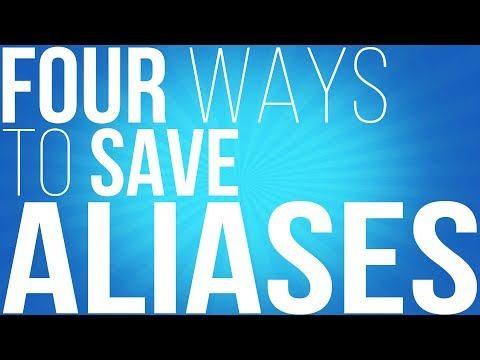 How to save your BASH aliases