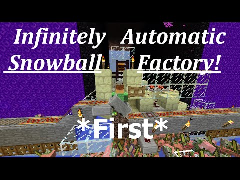 Infinitely Automatic AFK Snowball Factory! 1.12-1.9+ Vanilla Survival | Ray's Works
