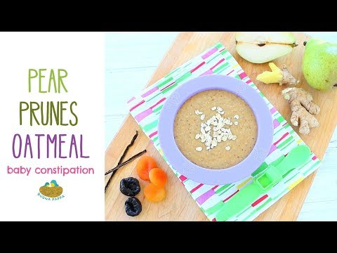 Oatmeal for constipation - Baby food recipe +6M