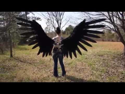 Halloween Costume using Actuators to make the wings extend and retract.