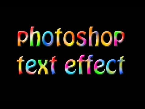 Tutorial Photoshop CS5 - multicolored text