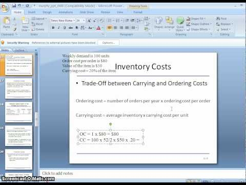 Inventory and Carrying Costs