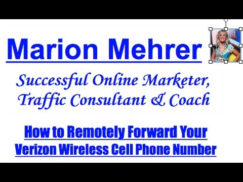 How to Remotely Forward Verizon Wireless Cell Number
