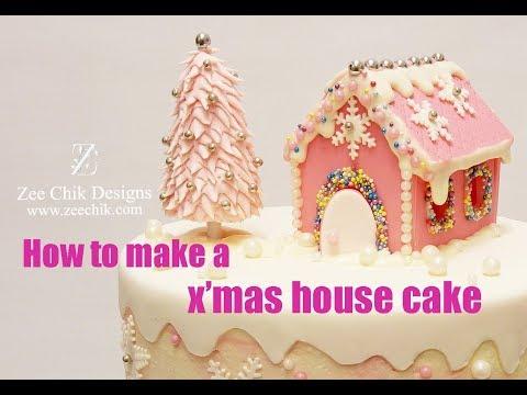 How to make a xmas house cake CHRISTMAS