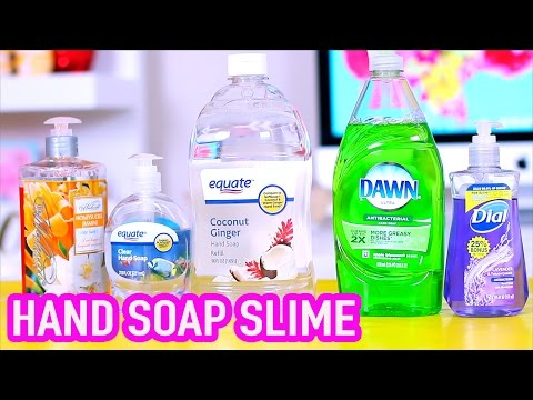 Handsoap Slime Test 2 without liquid starch, borax, corn starch, and glue