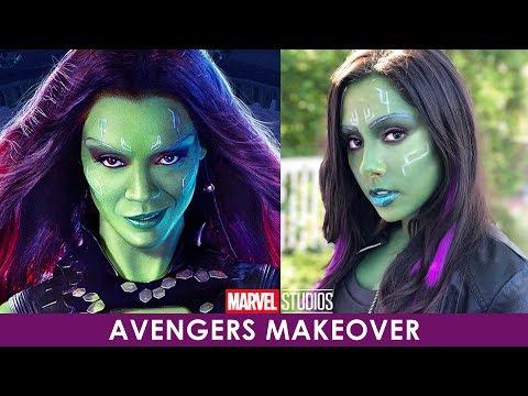 Makeup Transformation: Gamora From Avengers Infinity War