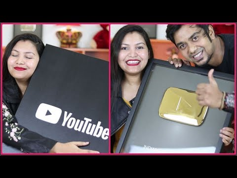 Vlog#20 | YOUTUBE GOLD PLAY BUTTON | 1M Subscribers | INDIANGIRLCHANNEL TRISHA