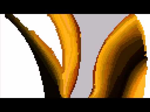 MS paint speed painting- Gold Heart