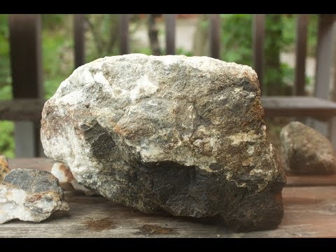WHATS INSIDE?  ETCHING A BIG GARDEN ROCK