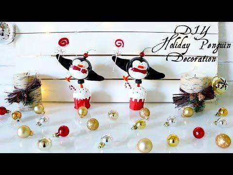 DIY Holiday Penguin Decoration