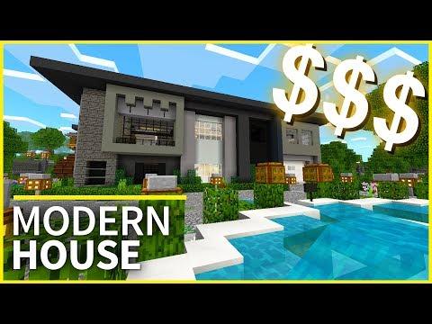 Minecraft PE Maps - MILLIONAIRE'S HOUSE! - Amazing House Design for MCPE 1.2