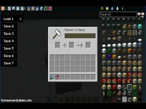 Minecraft 1.4.6-How To Make OP Enchanted Weapons and Items!
