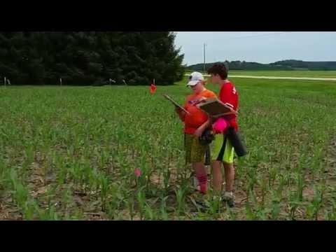 Cutting the 2015 Treinen Farm Fox and the Grapes Corn Maze