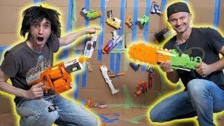 Box Fort Challenge: NERF ARSENAL!