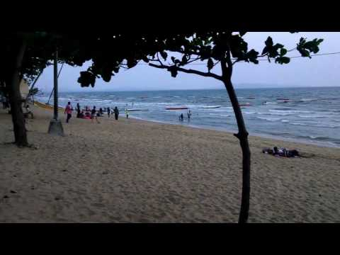 Pattaya Beach at sunset 03 2015