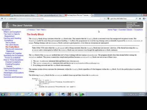 Exception Handling in JAVA-Part 2
