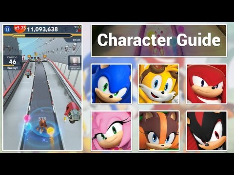 Sonic Dash 2: Character Guide