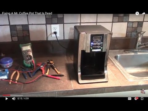 Fixing A Mr. Coffee Pot That Is Dead