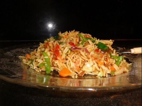 HOW TO MAKE VEG CHINESE FRIED RICE-RESTAURANT STYLE-REC IN HINDI