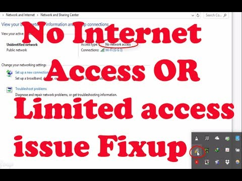 Window:How to fix yellow triangle on internet connection | Unidentified Network | No Internet Access