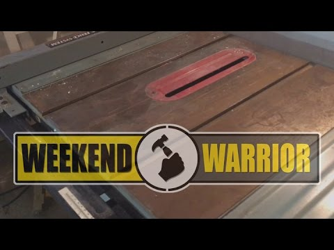 Table Saw Rust Removal / Workbench Extension / Shop Reorg Continues   WEEKEND WARRIOR