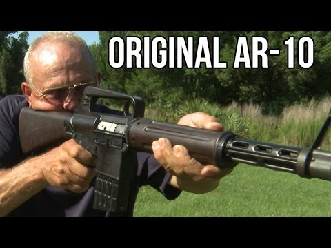 Prototype full auto AR-10 from 1957! (Unicorn Guns with Jerry Miculek)